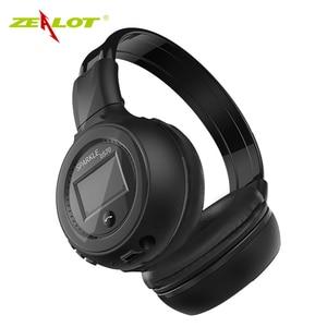 Image 5 - ZEALOT auriculares plegables B570 con Bluetooth, auriculares inalámbricos con estéreo HIFI y pantalla LCD, con Radio FM y ranura para microSD