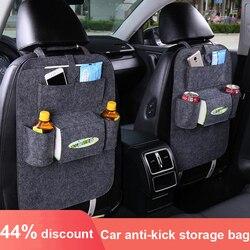 1 pçs organizador assento de carro assento de automóvel sacos de suspensão saco de armazenamento humanizado feltro capas de assento de volta bolsos