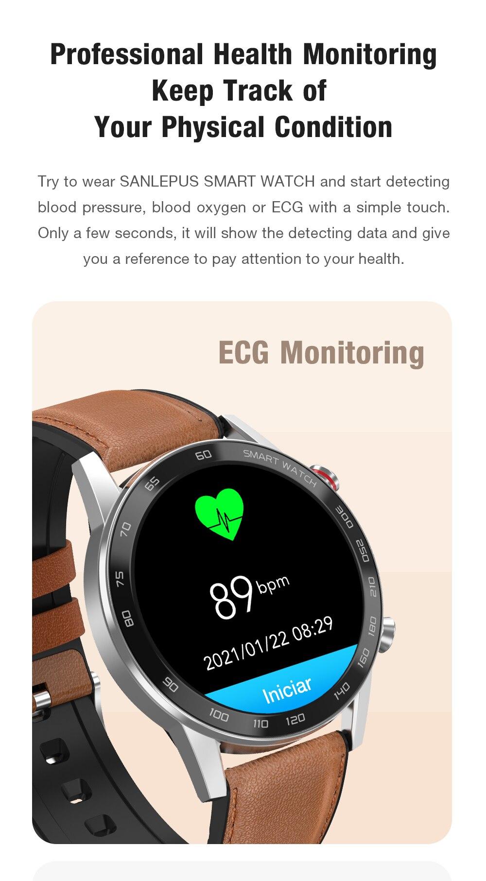H96ca2a276ecf428098aca75c8a5703b6H 2021 SANLEPUS ECG Smart Watch Dial Call Smartwatch Men Sport Fitness Bracelet Clock Watches For Android Apple Xiaomi