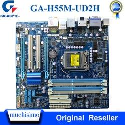 Gniazdo LGA 1156 GIGABYTE GA-H55M-UD2H płyta główna pulpitu DDR3 16GB Micro ATX USB2.0 i7 i5 i3 oryginalny używana płyta główna H55M-UD2H