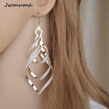 New Fashion Punk Wind Spiral Women s Earrings Personal silver color Scrub Earrings Metal Jewelry for.jpg 350x350 - New Fashion Punk Wind Spiral Women's Earrings Personal silver color Scrub Earrings Metal Jewelry for Women Party Gift
