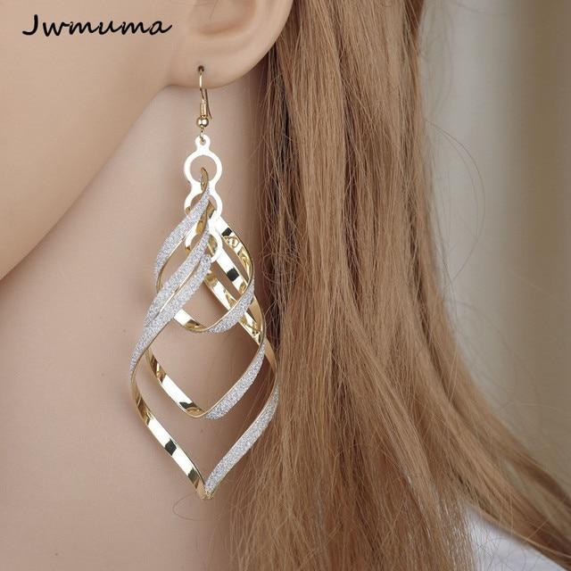 New Fashion Punk Wind Spiral Women s Earrings Personal silver color Scrub Earrings Metal Jewelry for.jpg 640x640 - New Fashion Punk Wind Spiral Women's Earrings Personal silver color Scrub Earrings Metal Jewelry for Women Party Gift