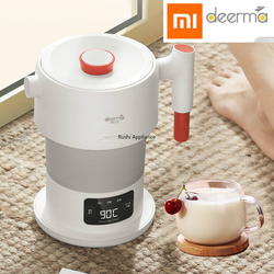 Xiaomi Deerma 0.6L Foldable Electric Kettle LCD Portable Handheld Electric Water Kettle Auto Power-Off Protection Kettle DH206