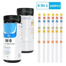 9-in-1 Water Test Strip  100 Pieces Drinking Water Test Strips  for Checking Water Quality Test Aquarium Fish Tank Swimming Pool test car model lib pool 40 thread 1