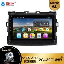 EKIY 9'' IPS Android 9.0 Stereo Car Radio for Toyota Estima/ Previa/Tarago 2006 2007-2018 Auto DVD Multimedia Recorder Player