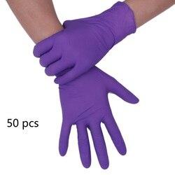 50 adet tek kullanımlık eldivenler lateks evrensel mutfak/bulaşık deterjanı/tıbbi/iş/kauçuk/bahçe eldiveni sol ve sağ el