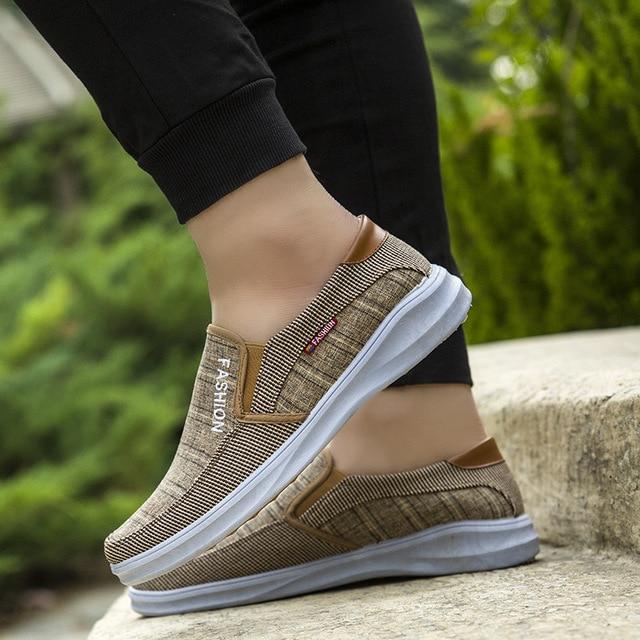 BJYL New canvas fashion sneakers men's casual belt light shoes comfortable breathable walking shoes Zapatillas Hombre M1317 3