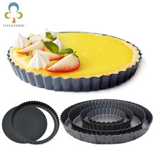 Fluted Pie Tart Pan Mold Baking Removable Bottom Nonstick Quiche Tool Rectangle Bakeware template Dishes Cake Pans GYH