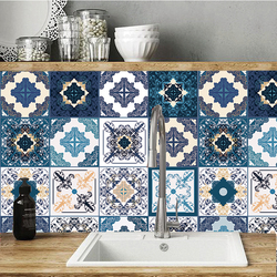Arapça tarzı seramik fayans duvar Sticker masaları banyo çekmece mutfak ev dekor duvar çıkartmaları su geçirmez sanatsal fresk posteri