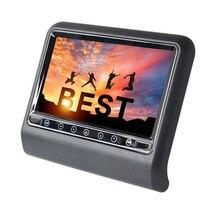 9 дюймов Автомобильный подголовник Mp5 Монитор 1080P контактная Кнопка экран Usb Sd Fm динамик 2-Way видео вход