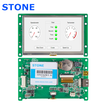 4.3 Inch LCD Screen Module With Develop Software +Controller Board For Industrial Control stone 5 inch serial lcd panel module with controller board software touch screen for industrial
