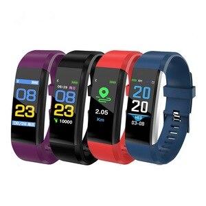 Image 5 - 115 Plus Bluetooth Polsbandje Hartslagmeter Bloeddruk Smart Band Armband Fitness Tracker Smartband Voor Android Ios
