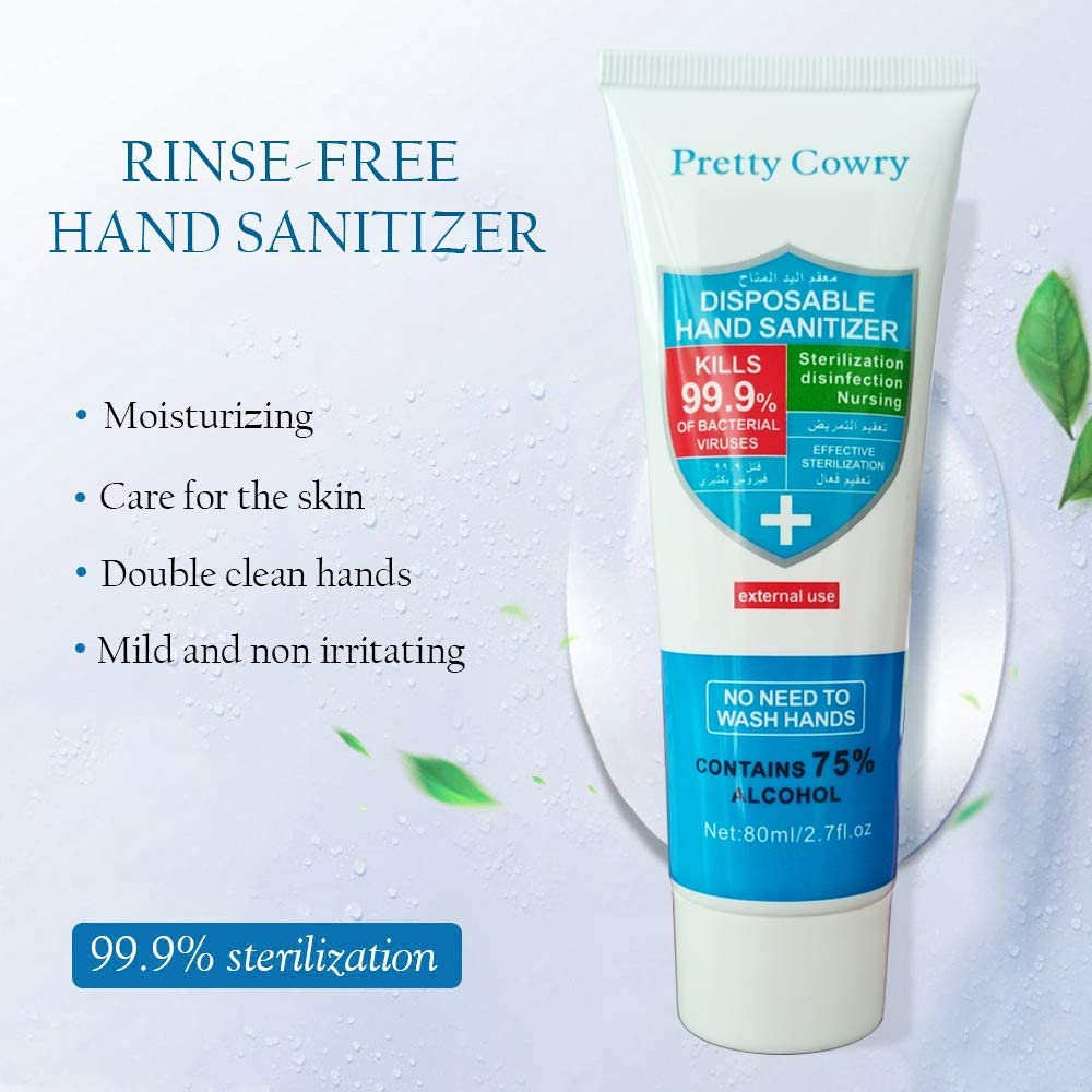Image 1 - 80ml Travel Portable hand sanitizer antibacterial moisturizing and disinfecting disposable anhydrous