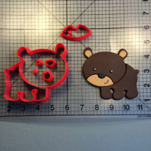 Cute cartoon bear cookie cutter kitchen baking supplies cake icing decoration tool set 3D printed custom seal(China)