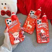 Santa Claus de Navidad suave TPU funda para Xiaomi mi 10 Pro mi8 Lite funda de silicona para Redmi Note 8 Pro 8t 7 9 9s cc9 k30 k20 8A