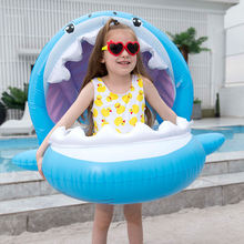 Детский надувной бассейн спортивное кольцо для плавания Акула