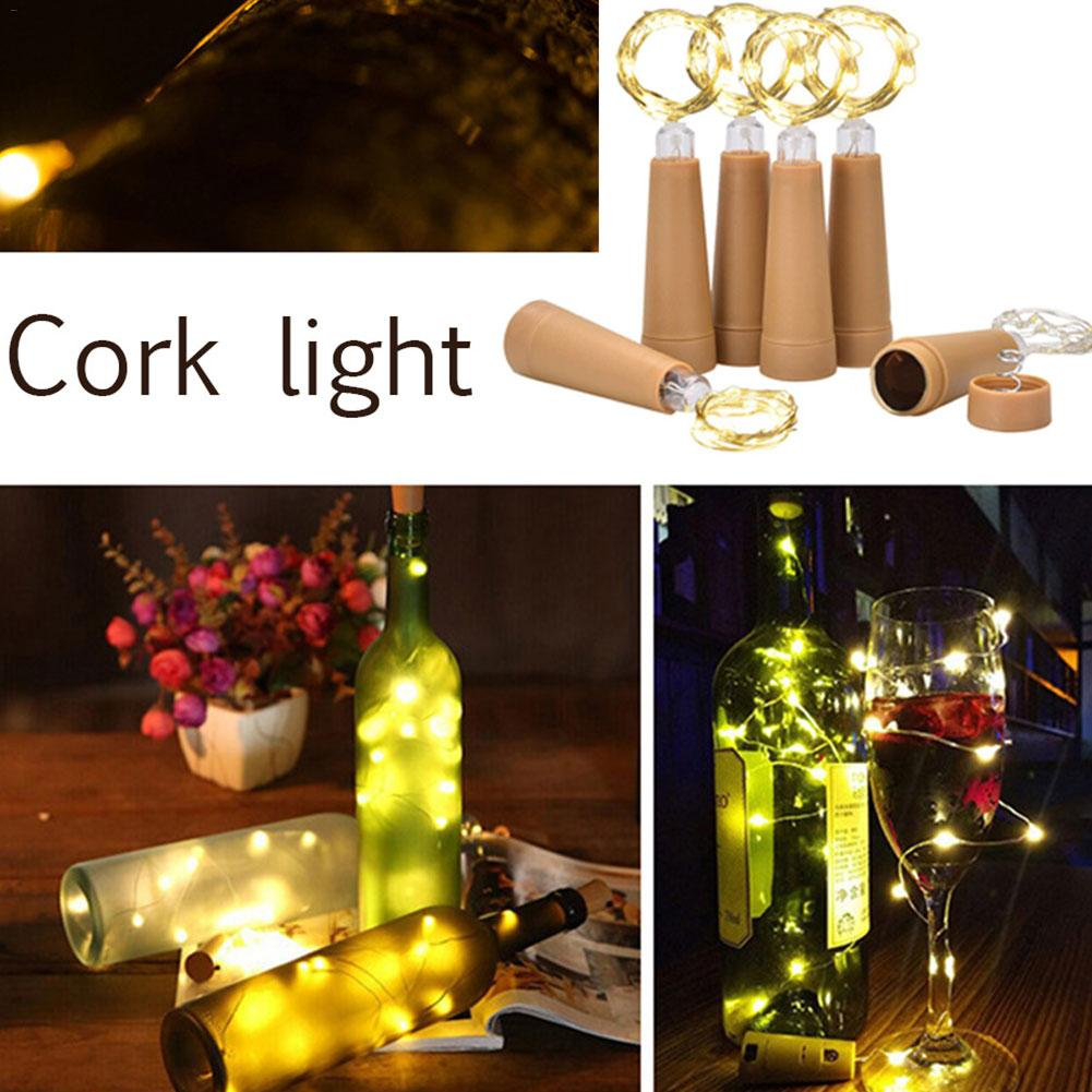 1PCS Solar 1M LED Cork Shaped 10 LED Night Fairy String Light Kork Solarbetrieben Licht Wine Bottle Lamp Party Celebration