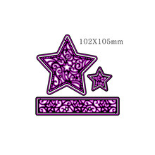 Star and Circle Frame Adv-one Metal Cutting Dies Stencils For DIY Scrapbooking Embossing Paper Cards Photo Album Making Craft(China)