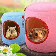Маленькая кровать для дома из Шиншиллы, универсальная подвесная кровать, супер мягкое гнездо для домашних животных, удобная переносная кровать Клетка для животных