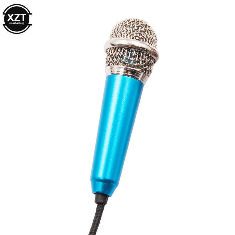 Portable 3.5mm Stéréo Studio Micro Karaoké KTV Mini Microphone Pour Téléphone Intelligent Pour Ordinateur Portable pc de bureau Portatif Micro Audio