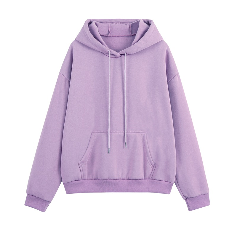 Women Tracksuits Autumn Winter Thick Fleece Warm Solid Suit 2 Pieces Sets Female Casual Long Sleeve Hooded Sweatshirt Outfit