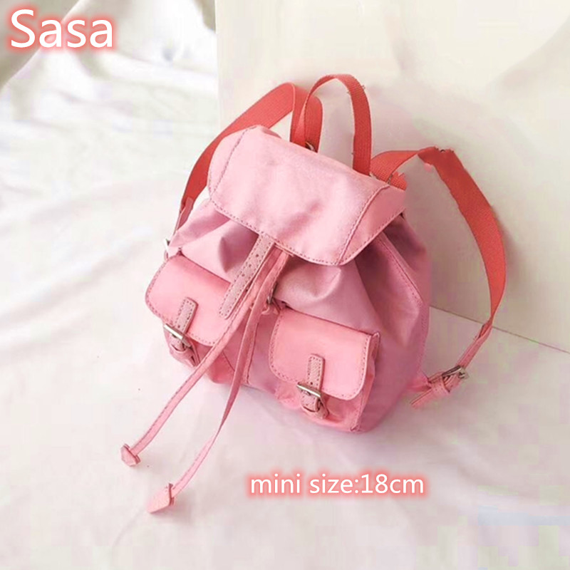 Sasa 2020 Nylon Material Shoulder Bags Totes For Ladies Black Color Bags Mini Bucket Bags Outside Travel Bags
