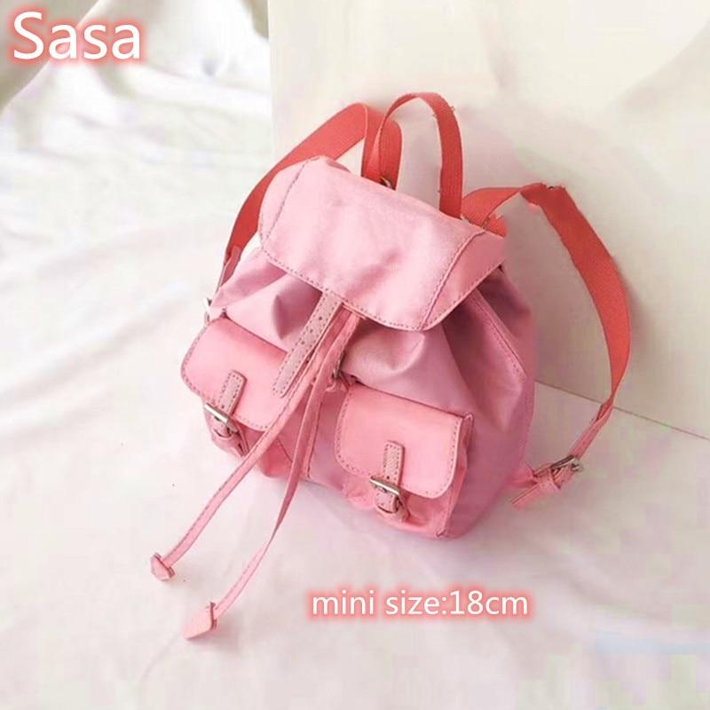 Sasa 2020 Nylon Material Shoulder Bags Totes For Ladies Black Color Bags Mini Bucket Bags Outside Travel Bags