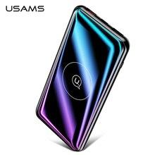 USAMS QI беспроводной внешний аккумулятор 10000 мАч QC3.0 PD Быстрая зарядка Портативная зарядка внешний аккумулятор для Xiaomi Poverbank