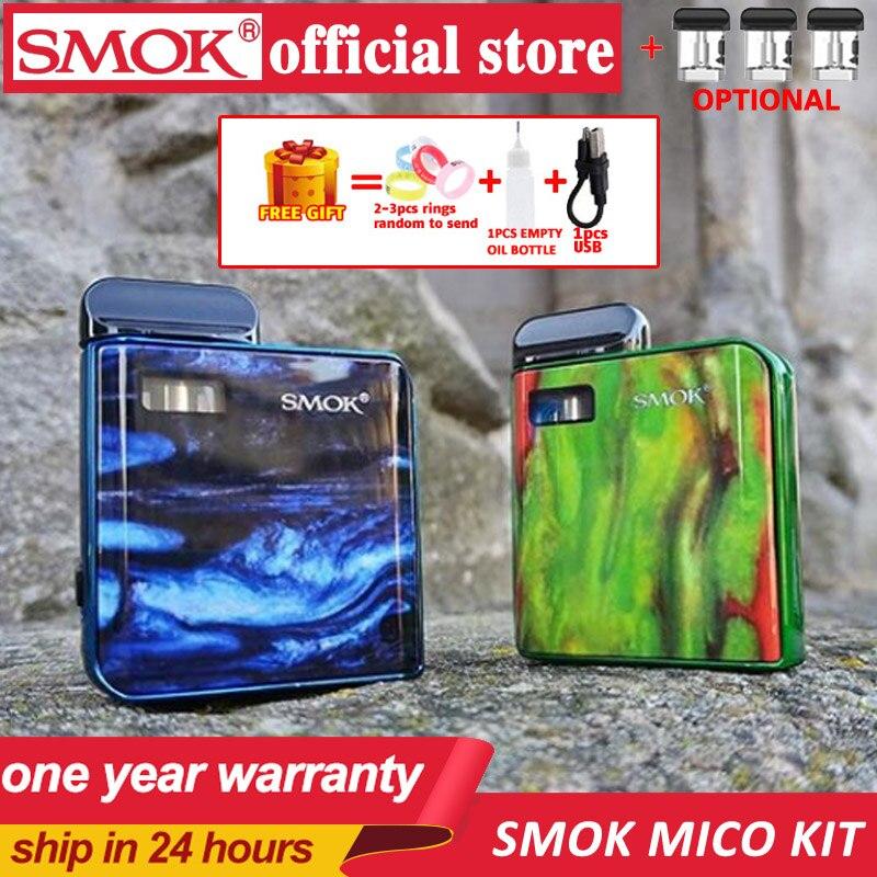 New Stocks SMOK MICO Kit With 700mAh Mico Battery 10-26W MICO MOD Electronic Cigarette Vape 1.7ml Cartridge Pod Mesh MTL Vaping