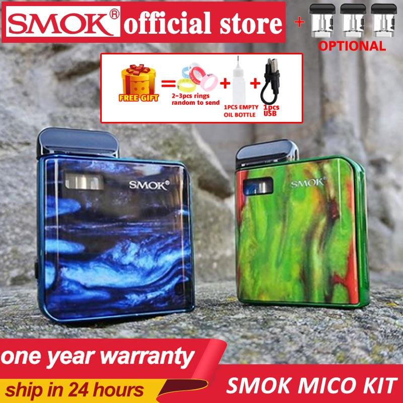 Nouveaux stocks SMOK MICO Kit avec 700mAh Mico batterie 10-26W MICO MOD Cigarette électronique Vape 1.7ml cartouche Pod maille MTL vapotage