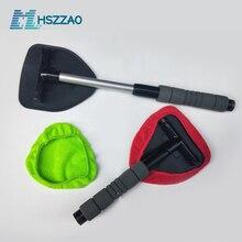 Ventana Kit de cepillo limpiador Limpieza de parabrisas de coche para lavar dentro del Interior de vidrio Auto limpiaparabrisas con mango largo Defogging limpiar