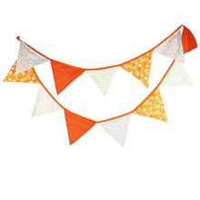Orange Thanksgiving Cotton Triangle Pennant Child Birthday Party Pennant Baby Photo Background Halloween Decoration цена 2017