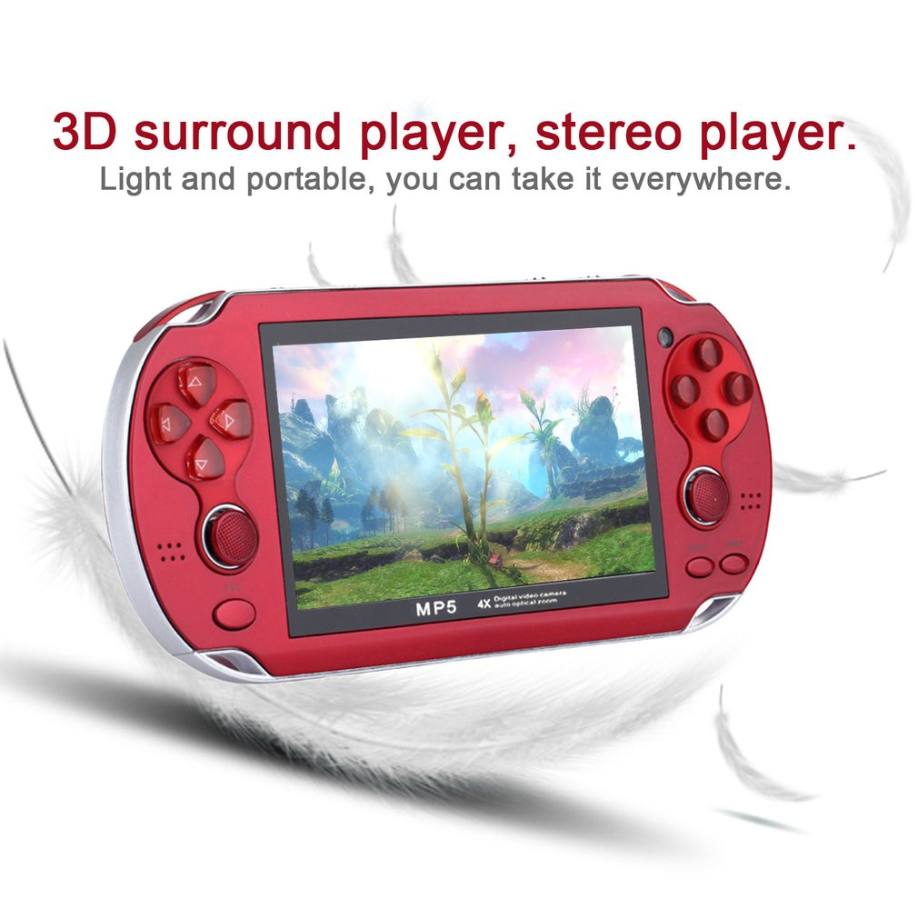 Mini Video Game Console for Playstation PSP Game Machine Double Joystick 4.3Inch Screen 8G Memory Video Camera MP4 image