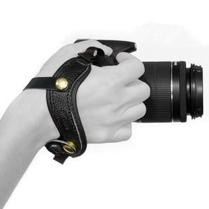 Image 2 - كاميرا قبضة اليد المعصم جلدية حزام لأوليمبوس OMD EM1 EM5 EM10 OM D E M1 E M5 E M10 مارك الثالث II 3 2 سوني A9 A7S A7R A7 III II