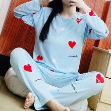 Womens Pajamas Sets Autumn Winter New Long Sleeve Cartoon Pr