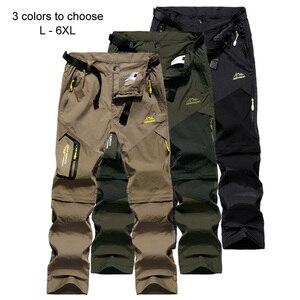 Image 4 - Loclimb calça masculina para trilhas, removível, para o verão, acampamento ao ar livre, viagem, esportes de montanha, calça cáqui am002