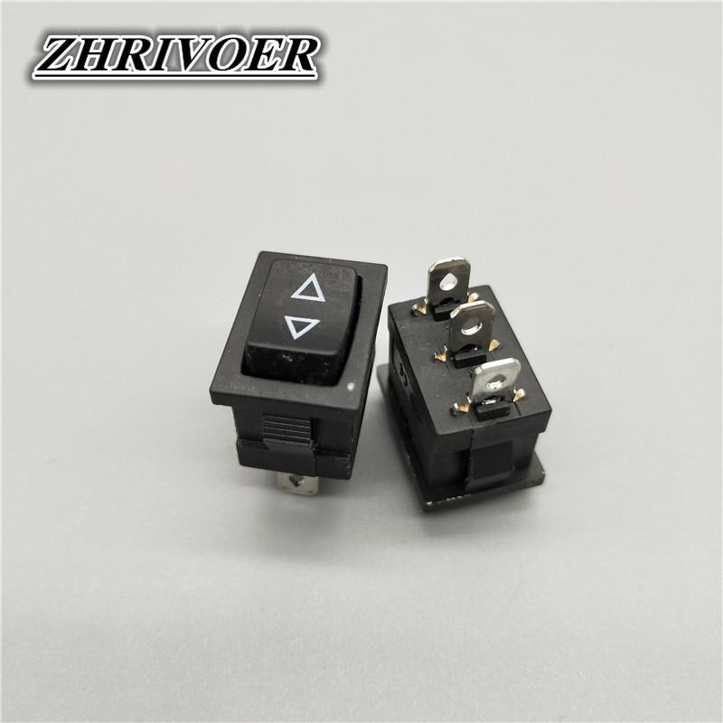 5 шт., 3-контактный Кулисный Переключатель KCD1 15*21 мм, выключатель питания 10 а/125 В, стрелка, самосброс/Мгновенный кнопочный переключатель