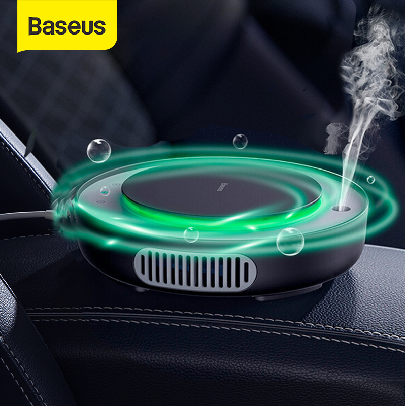 Baseus Car Air Purifier Freshener Mini Electric Auto Air Ionizer Cleaner Humidifier For Home Office Car Vaporizer Air Fresher