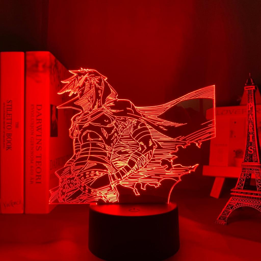 H96ccf493b6b6444da50e0d1e374d08d5i Luminária Anime gurren lagann kamina conduziu a luz da noite para o quarto decoração presente de aniversário noite lâmpada kamina luz gurren lagann gadget
