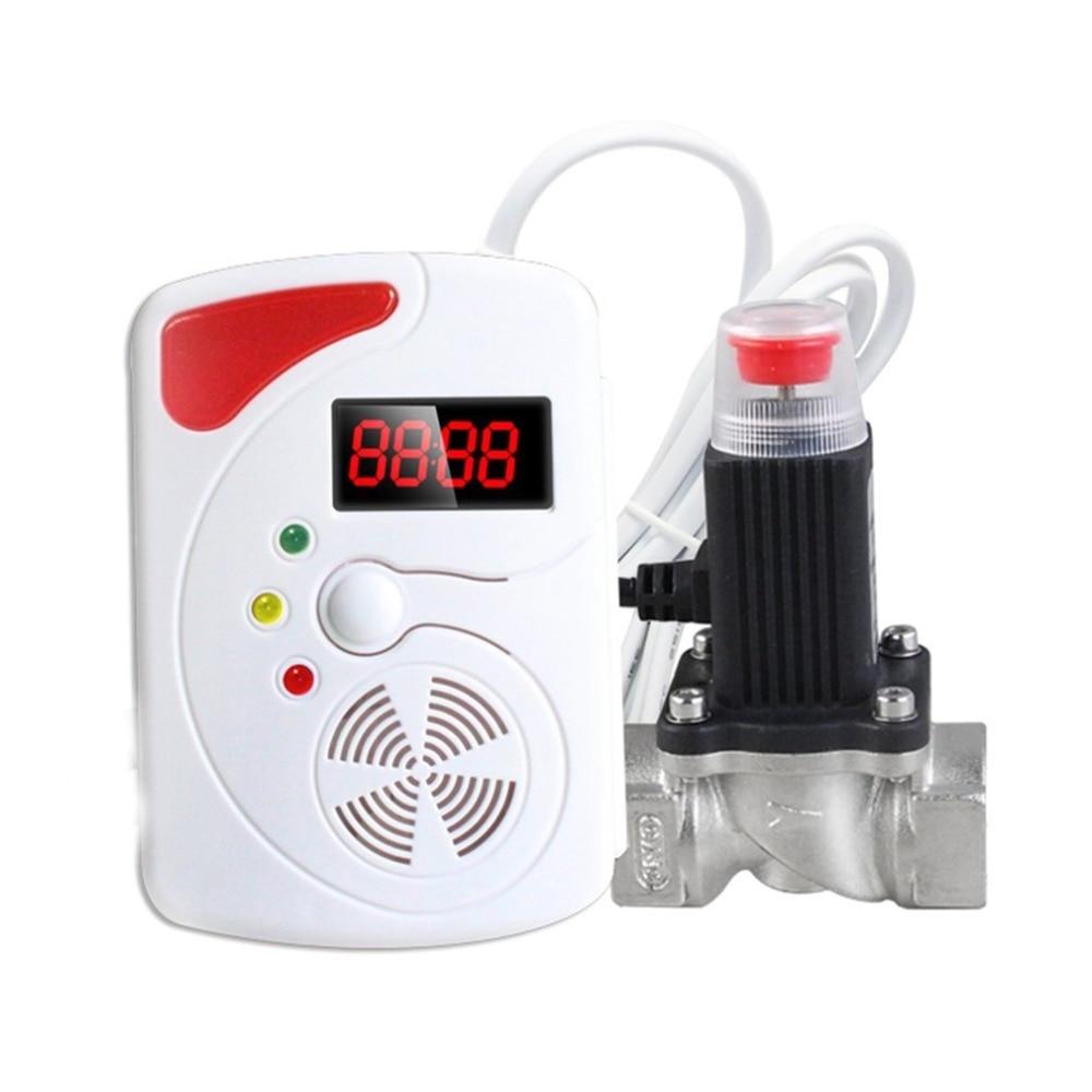 LESHP 433MHz High Sensitivity Smart Voice Gas Leakage Detector Digital Display LPG Detecting Device Home Security Alarm Sensor