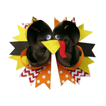 5 inch hair Clips Stylish Hair clip for girls on  Thanksgiving Day Turkey Clip Holiday