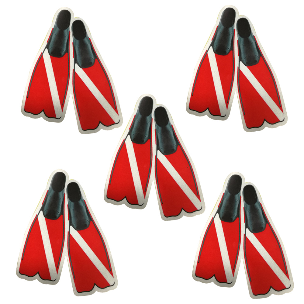 11.4CM*14CM Personality Scuba Dive Fins Stickers Reflective Diving Tank Bag Marine Boat Personalized Stickers