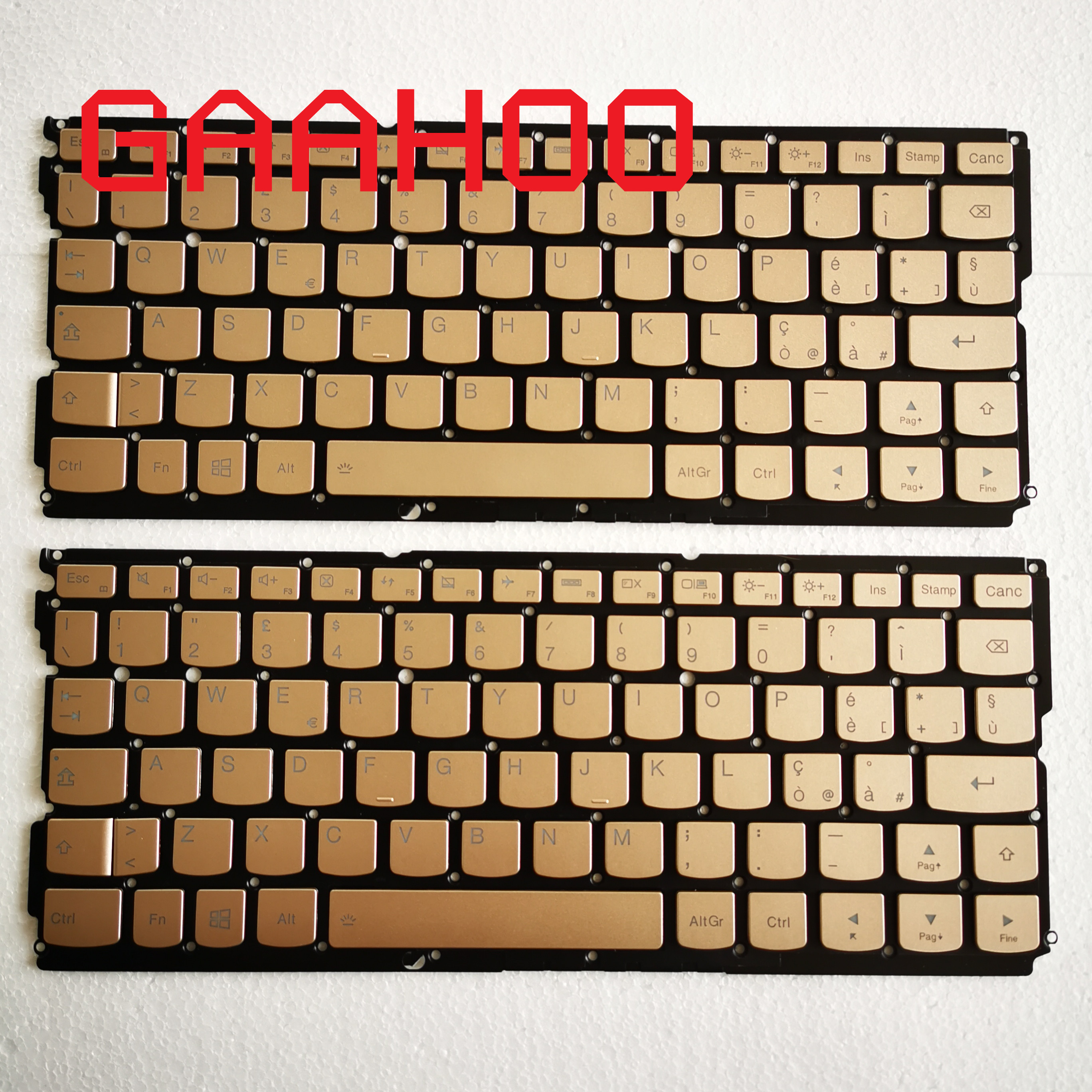 IT Italy  Backlight  Keyboard For Lenovo YOGA900-12 YOGA 900S-12 Yoga 4S Laptop Backlight Keyboard  GOLDEN