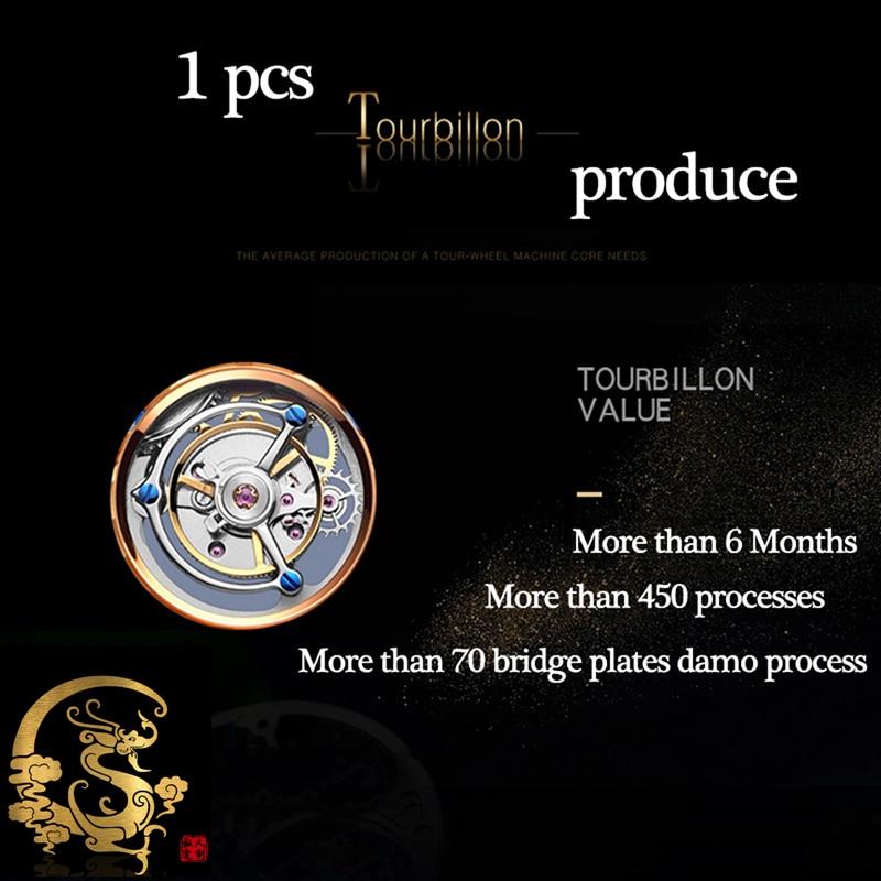 New GUANQIN Original Tourbillon watch men top brand luxury waterproof skeleton Sapphire Mechanical Tourbillon relogio masculino 4