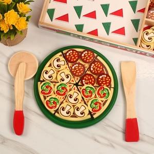 Image 5 - Juego de simulación de juego de simulación de madera para niños, Kichen, Pizza de corte, juguete de cocina de rol, Juguetes de desarrollo para edades tempranas, 27 Uds.
