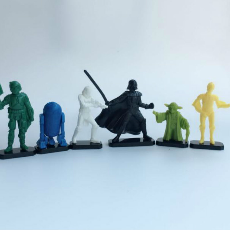50pcs/lot Star Wars Dolls 2.5-4cm Home Decor Action Figure Quality Capsule Toys For Children Birthday Gift Hobby Collections