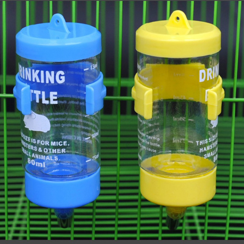 80/125/250ml  Small Pet Water Feeder Hamster Cage Water Bowls For Drinking Dishes Tableware Feeder Small Pet Auto Drinker Bottle