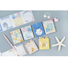 80pcs /lot Cartoon Bear Whale Sticky note pad Creative modeling memo decoration School Office articles Stationery