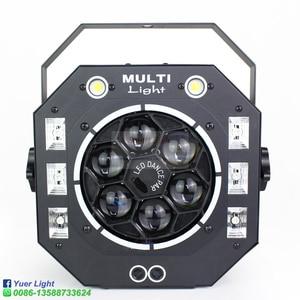 Image 2 - مصباح LED قرصي 120 واط شعاع ستروب ليزر UV 4IN1 متنوعة تأثير ضوء الصوت المنشط DMX512 حفلة DJ مرحلة الزفاف عيد الميلاد مصباح