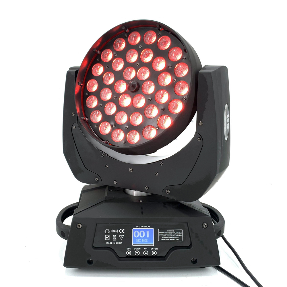 36x18W Zoom iluminación con cabeza giratoria 6in1RGBWA UV 6in1 de alta calidad etapa Led Luz de DJ dmx barra de luz 40000LM potente faro USB recargable 7 LED faro delantero lámpara impermeable cabeza linterna